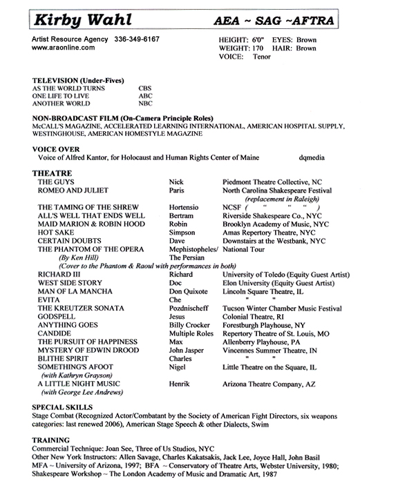 Print: Resume Template